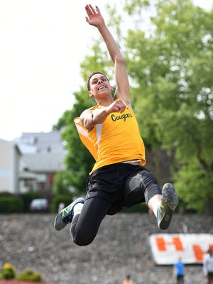 Wellington Ventura, of Cresskill, competes in the long jump in 2017
