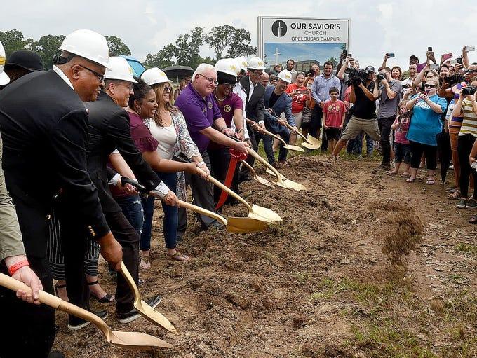 Groundbreaking for Our Savior's Church Opelousas Campus