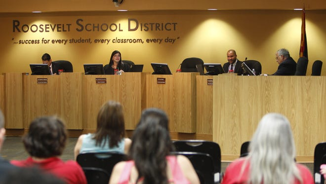 In April, the governing board for the Roosevelt School District approved cutting nearly three dozen mostly administrative jobs for the 2016-17 school year amid a budget error.