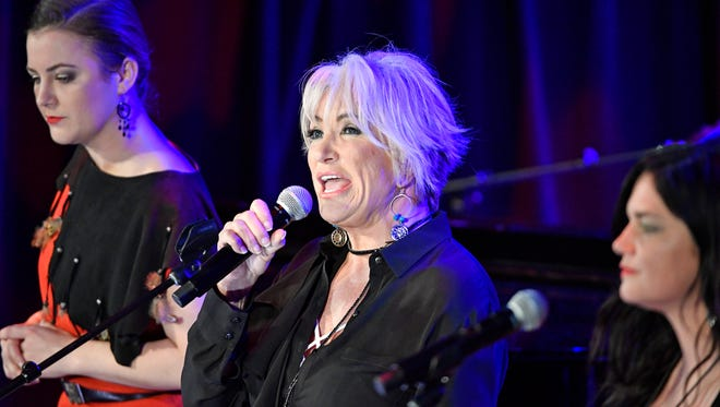 """Tanya Tucker sings at the CMHOF's """"Outlaws and Armadillos"""" opening concert. Friday May 25, 2018, in Nashville, Tenn."""