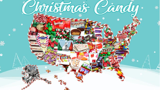 CandyStore.com surveyed its customers to find the top Christmas candy in every state.