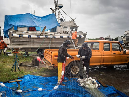 Getting the fishing nets ready, pre-season, Bristol