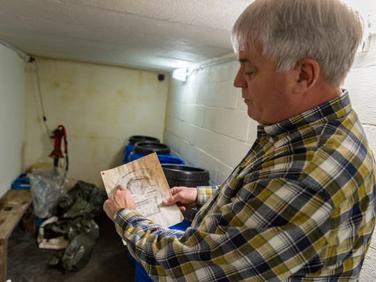 Chris Edwards provides tour of bomb/fallout shelters