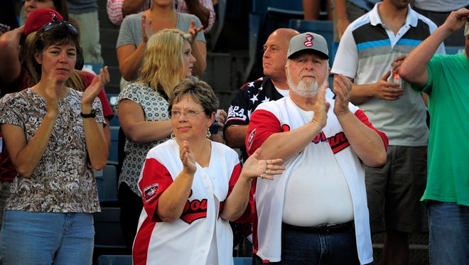 Carolyn and Bob Burgess usually are in church on Wednesdays, but they made an exception this week to take in the last game at Greer.