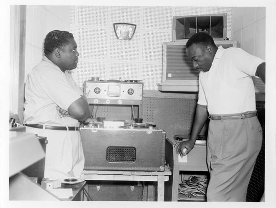 Fats Domino, left, pictured here with collaborator