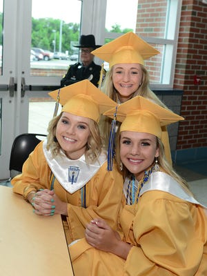 Pocomoke High School graduates before the commencement on Tuesday, May 29, 2018 in Pocomoke City, Md.