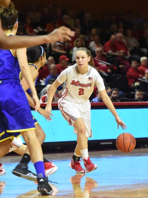 Eileen Van Horn had seven rebounds in Marist's 56-47 win over visiting Quinnipiac Thursday. The Red Foxes visit Fairfield Sunday,