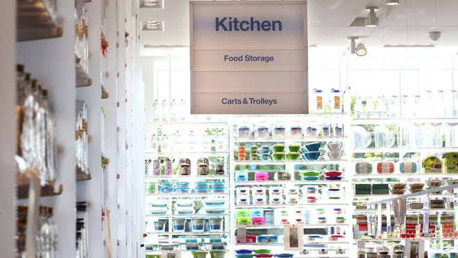 Kitchen storage isle at the Container Store in Novi. All Container Store locations have the same design and floor plan.   Jessica J. Trevino
