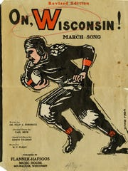 "Sheet music for ""On, Wisconsin!"" published in 1931"
