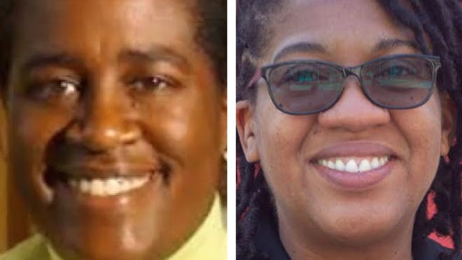 Robin Harris, left, is stepping down after 20 years as principal of Fletcher Maynard Academy in Cambridge. Maisha Rounds, who has been in education for 20 years and has a master's in education from Harvard, will take Harris' place.