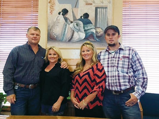 Pictured from left to right are owners of the company Levi Williamson, Shyla Williamson, McChristie Curry and Catlin Curry