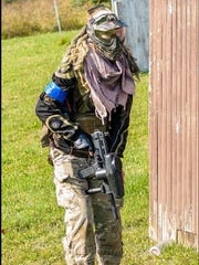 Khristiyana Dix of Jeddo during a local paintball game