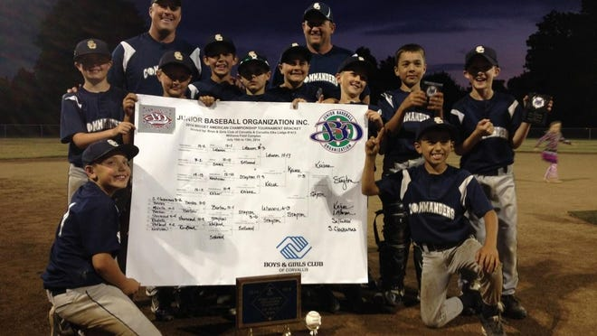 Stayton Commanders won 10 and Under state championship, July 13, 2014, in Corvallis.