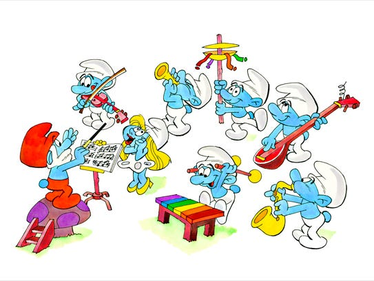 """""""Smurf Orchestra,"""" by Ron Campbell."""