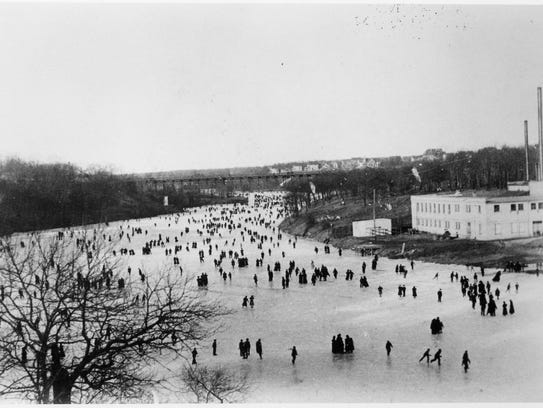Skaters flocked to the Milwaukee River when the ice