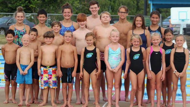 Mountain Home swimmers competed in the Junior Olympics over the weekend in Des Moines, Iowa.