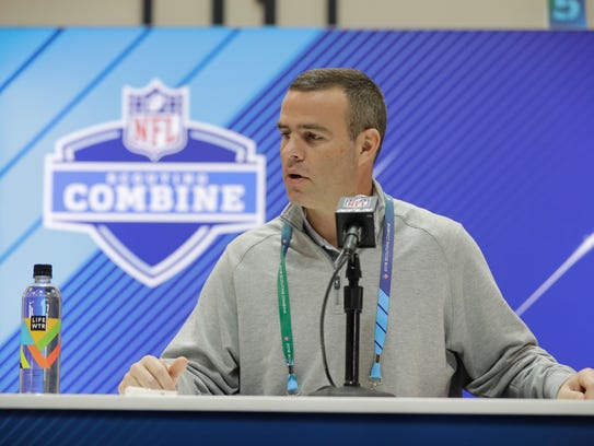 Buffalo Bills general manager Brandon Beane speaks