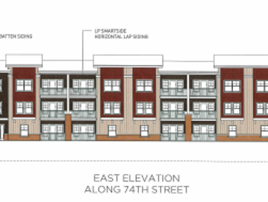 Rendering of the 66-unit apartment building proposed