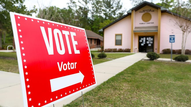 Polling location at Gateway Christian Center in Gainesville  on March 17.