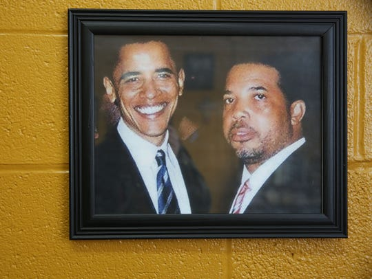 A framed picture in his office shows the Rev. Rickey