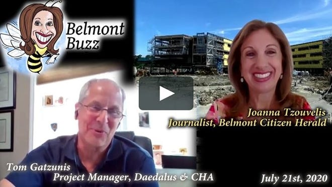 'Belmont Buzz' host interviews Owner's Project Manager Thomas Gatzunis about three major construction projects in Belmont.