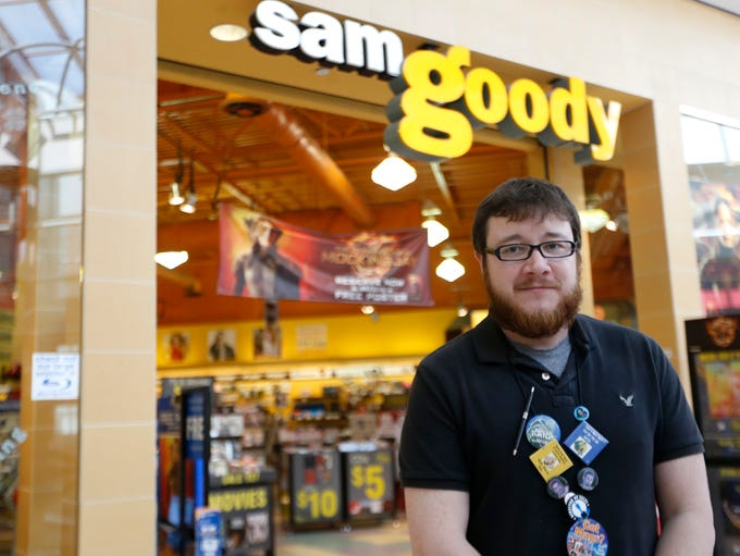 Jamie Burgess, Manager at the Sam Goody Store in the