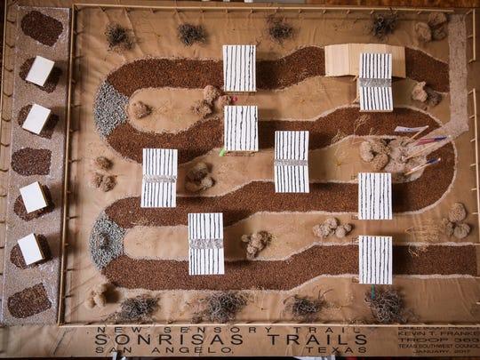 Kevin Franke's design for the sensory trail at Sonrisas Trails.