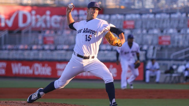 The Blue Wahoos Austin Ross (15), picked up right where he left off.