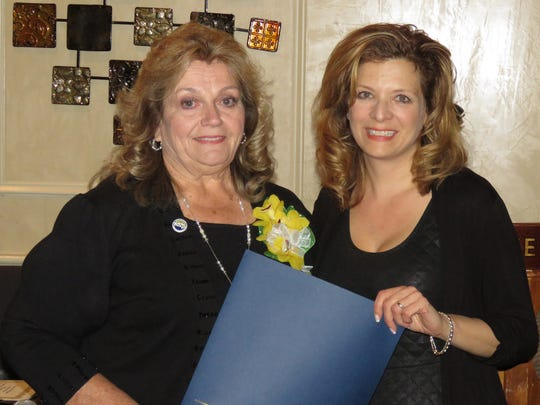 Family and friends, including friends she only just met, gathered at Giovanna's Restaurant in Plainfield to honor Shirley Weaver Thompson (left) as she received the 2017 Service Above Self Award from the Rotary Club of Plainfield-North Plainfield.