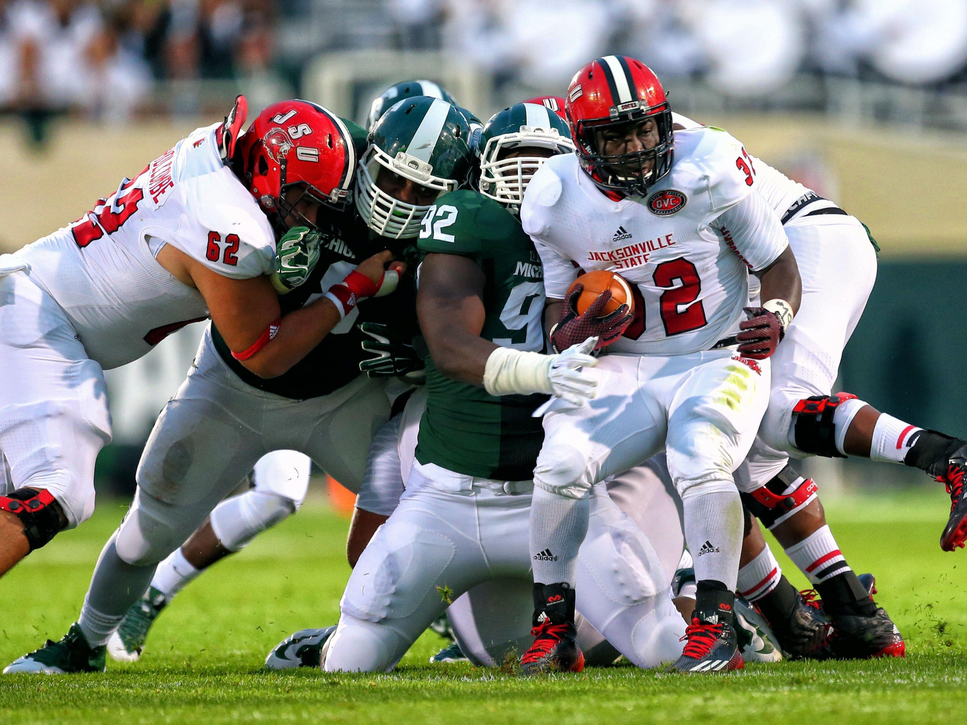 Jacksonville State running back DaMarcus James and the Gamecocks will play at Auburn on Sept. 12.