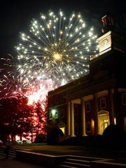Norwich University kicks off its five-year countdown to its bicentennial in 2019 and the Forging the Future campaign with fireworks at the conclusion of Friday's homecoming gala.