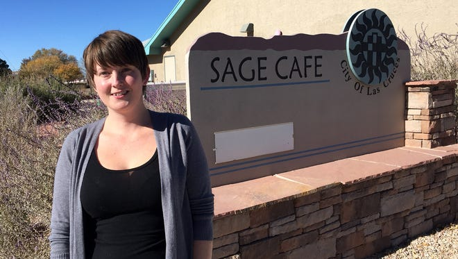 Shelby Stuckel, a public health graduate student at New Mexico State University, is working with the senior mobile food pantry in Las Cruces to help reduce food insecurities for senior citizens.