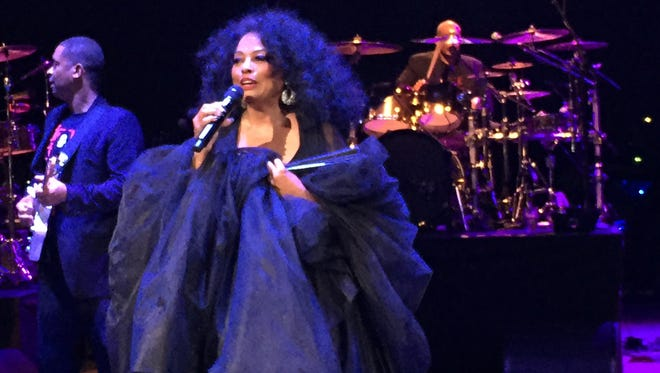 Diana Ross at Chene Park in Detroit on Saturday, July 30, 2016.