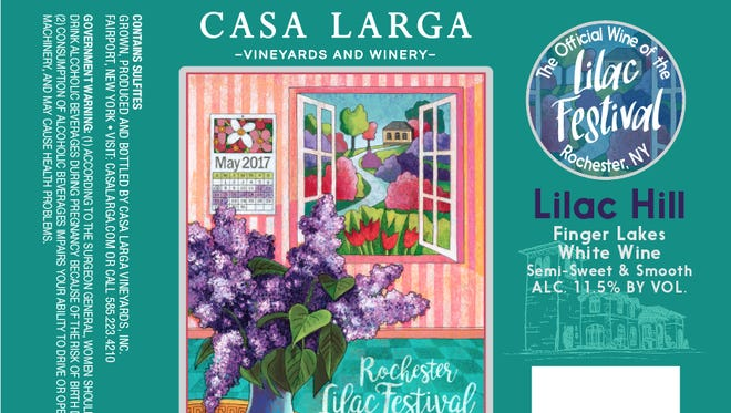 The label for Casa Larga Vineyards' 2017 Lilac Hill wine.