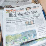This week's Black Mountain News delayed by one day