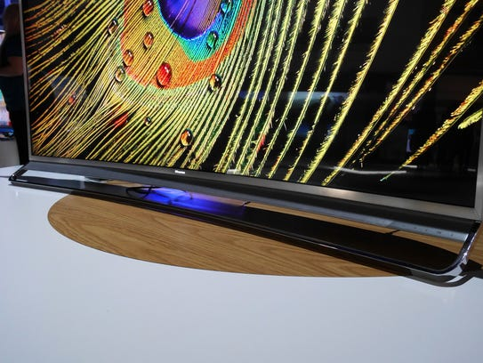 The H10's panel is curved, to match its curved screen.