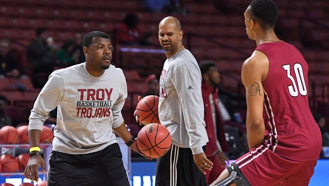 Troy assistants Ben Fletcher and Marcus Grant have NCAA Tournament experience as players. Fletcher was on the Trojans' only previous NCAA team in 2003, while Grant went to the Sweet 16 with Mississippi State in 1995.