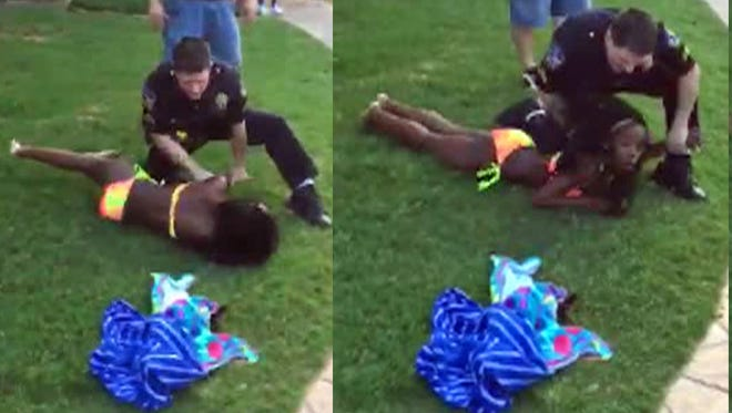 Jahda Bakari, 13, captured another angle of the confrontation between Cpl. Eric Casebolt and the 15-year-old girl.