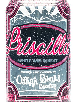 Priscilla White Wit Wheat, from Oskar Blues Brewery in Longmont, Colo., is 5.2%ABV.