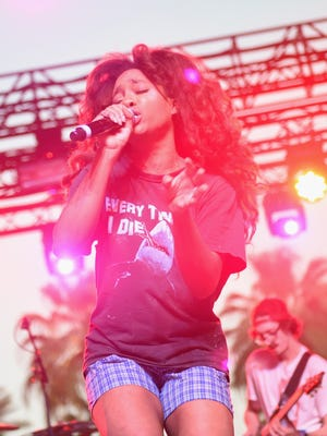 Singer SZA performs onstage during day 2 of the 2016 Coachella Valley Music & Arts Festival on April 16, 2016 in Indio, CA.