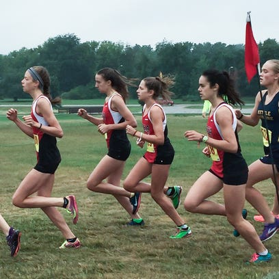 Kacey Fisher, Janet Fee, Jordyn Summerfield and Andrea Mabie all return for the Wauwatosa East girls cross-country team. It finished third at the Glenn Herold invite.
