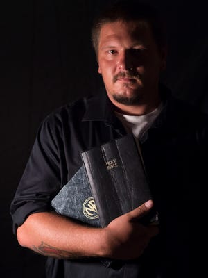 """Every morning the two things that came first were God and recovery when I woke up,"" said Sean Flynn, of Port St. Lucie, a former opiate user who now keeps a Bible and the Narcotics Anonymous Basic Text at his bedside. Following years of drug use, personal loss and homelessness in Brick Township, New Jersey, Flynn completed treatment in Florida and now works at a detox facility in Port St. Lucie."