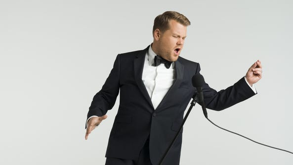 James Corden hosts the 59th annual Grammy Awards on