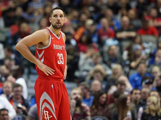 Houston Rockets forward Ryan Anderson during the game