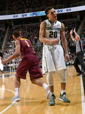 """I'm just glad it's the next game — home, away, neutral. Just another game feels good right now and I'm happy it's a quick turnaround,"" MSU's Travis Trice said."