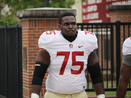 FSU offensive tackle Abdul Bello