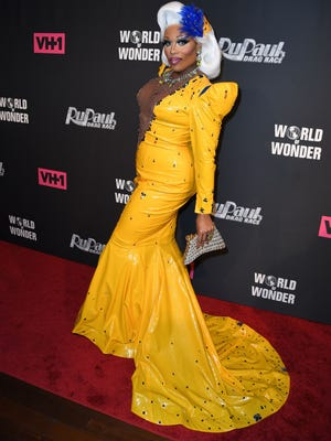 "Drag performer Peppermint attends the ""RuPaul's Drag Race"" season premiere party on March 7 in New York."