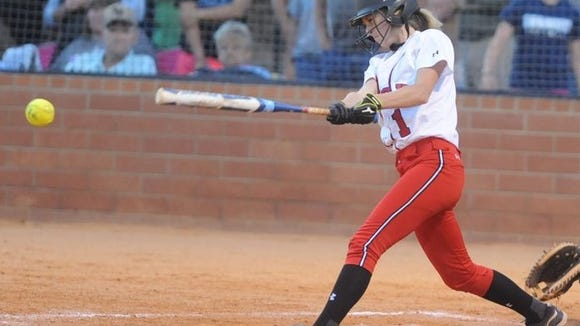 Morgan Henson was an all-conference player for the Pisgah softball team in 2014.