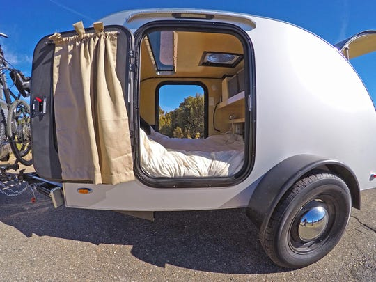 Lightweight Teardrop camper trailers are built for two.
