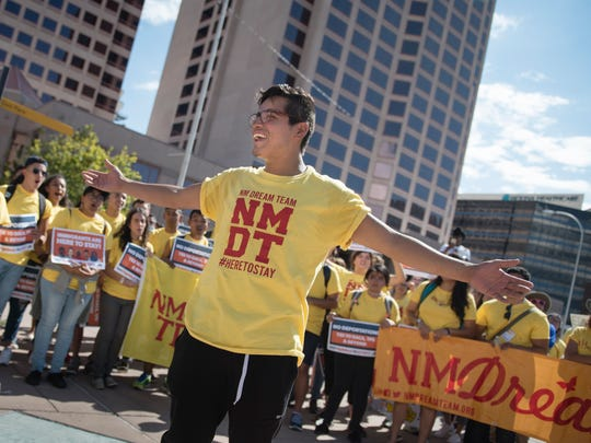 Supporters of the DACA program that protects immigrants brought to the U.S. illegally as children rally in New Mexico last month.